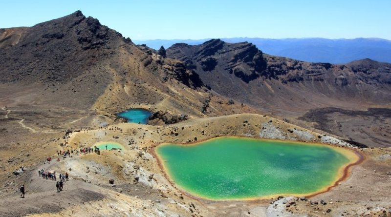Neuseeland Nordinsel, Tongariro Crossing- Emerald Lakes