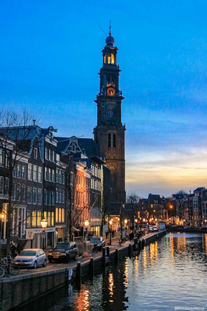 Niederlande, Amsterdam 06- Prinsengracht, Westerkerk