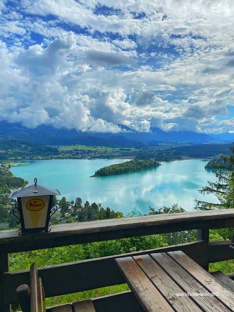 Kärnten 0043e_Taborhöhe_Aussichtspunkt auf den Faaker See