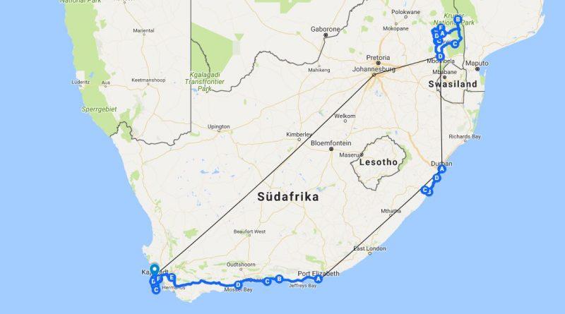 Südafrika Karte