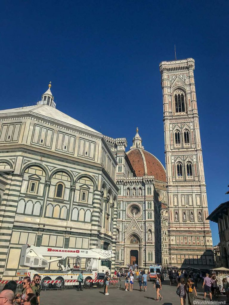 Toskana317- Florenz, Die Kathedrale, der Dom, Campanile